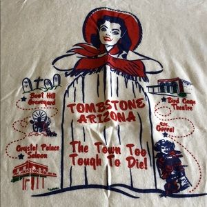 Vintage Tops - Vintage Tombstone Arizona tee